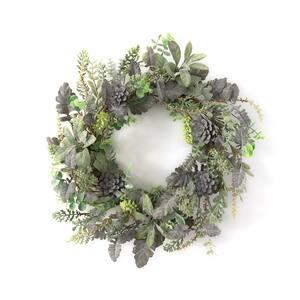 21 in. Artificial Succulent Wreath