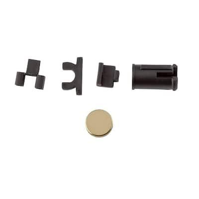 Prestige Polished Brass Handleset Dummy Conversion Kit