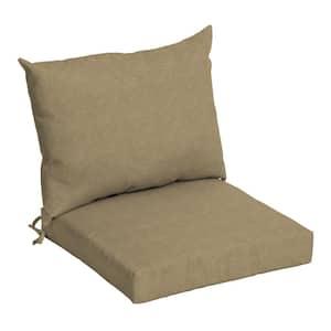 21 in. x 21 in. Tan Hamilton Texture Outdoor Dining Chair Cushion