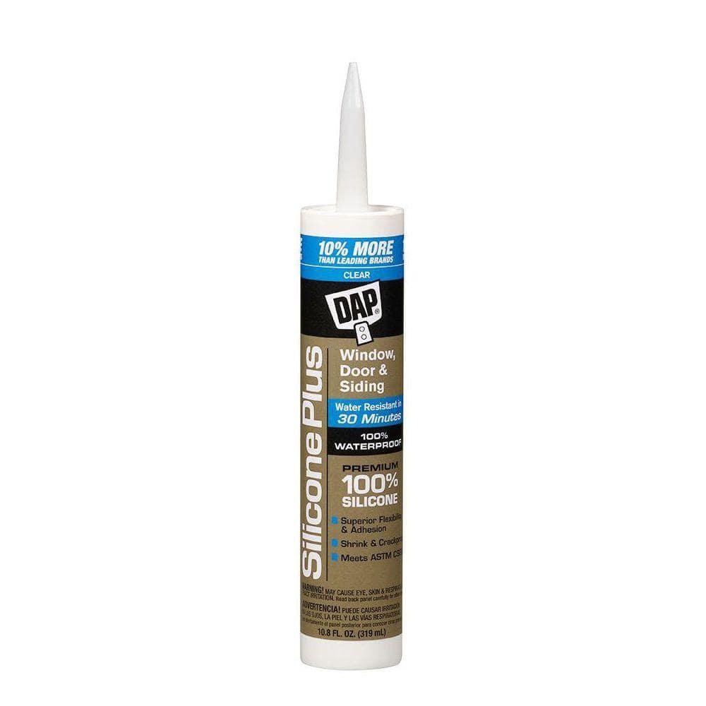 DAP Silicone Plus 10.8 oz. Clear Premium Window, Door and Siding Sealant (12-Pack)