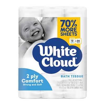 2-Ply Comfort Toilet Paper (400-Sheets Per Roll, 12-Rolls Per Pack)