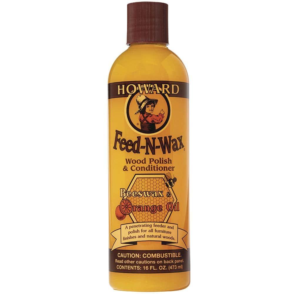 Howard 16 oz. Feed-N-Wax wood polish