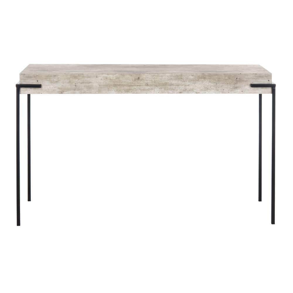 Safavieh Eli 47 2 In Light Gray Black Console Table Cns4200a The Home Depot