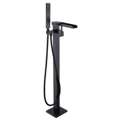 Union 2-Handle Claw Foot Tub Faucet with Hand Shower in Oil Rubbed Bronze