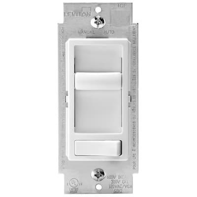 SureSlide 600-Watt Single Pole and 3-Way Incandescent-CFL-LED Slide Dimmer, 10-Pack, White
