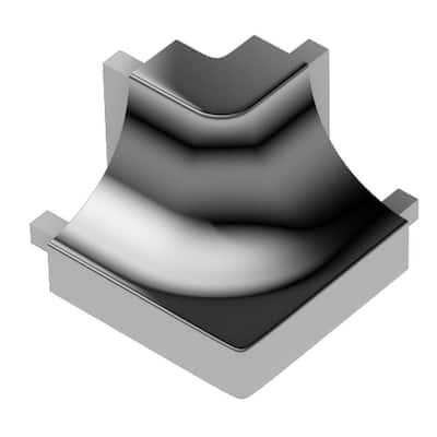 Dilex-AHK Polished Chrome Anodized Aluminum 1/2 in. x 1 in. Metal 90 Degree Outside Corner