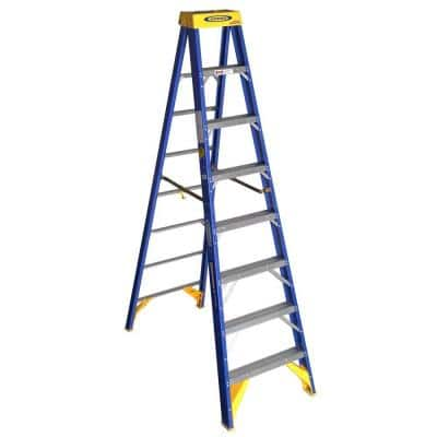 8 ft. Fiberglass Contractor JobStation Step Ladder with 375 lb. Load Capacity Type IAA Duty Rating