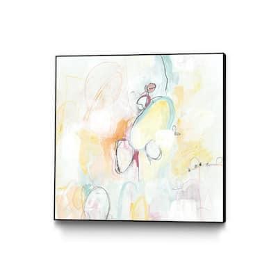 """20 in. x 20 in. """"Quarter Note II"""" by June Erica Vess Framed Wall Art"""