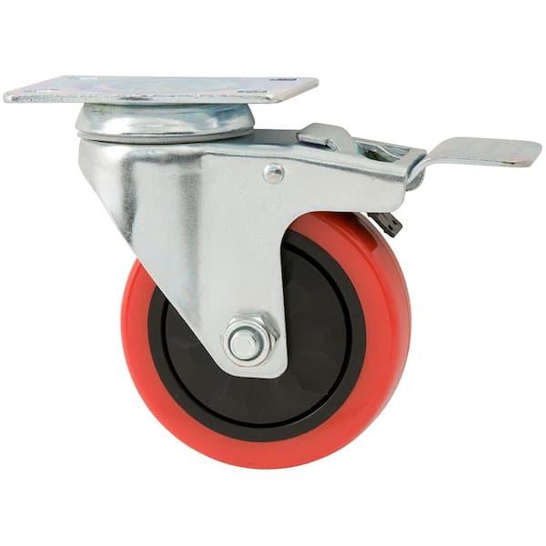 Universal Casters Cots Silent Pulleys Furniture Pulleys Used for Strollers Desks 4 Castors with Brakes Wear-Resistant