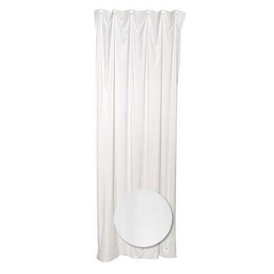 70 in. W x 72 in. H Vinyl Shower Liner in White