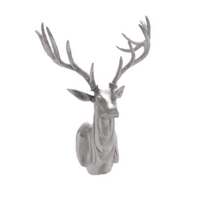 23 in. x 17 in. Silver Aluminum Eclectic Wall Decor
