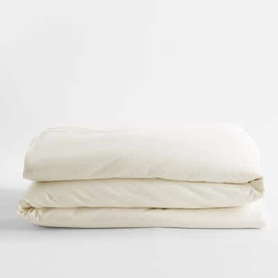 Legends Hotel Ivory 450-Thread Count Wrinkle-Free Supima Cotton Sateen King Duvet Cover