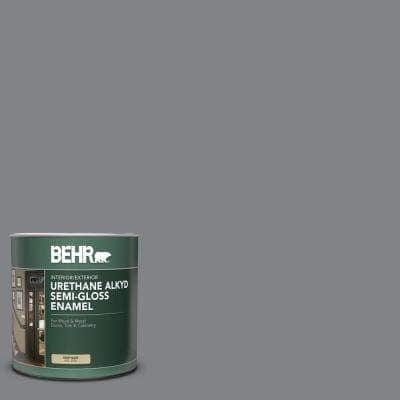 Behr 1 Qt Ae 52 Rising Smoke Semi Gloss Enamel Urethane Alkyd Interior Exterior Paint 393004 The Home Depot