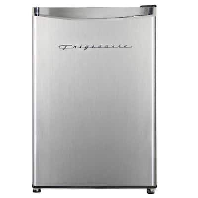 3.2 cu. ft. Retro Mini Refrigerator with Freezer with Platinum Door Design