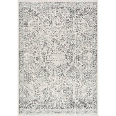 Minta Modern Persian Gray 2 ft. x 3 ft. Area Rug