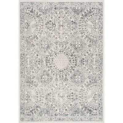Minta Modern Persian Gray 5 ft. x 8 ft. Area Rug