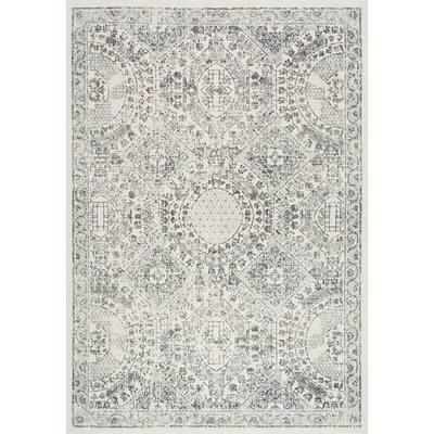 Minta Modern Persian Gray 8 ft. Square Rug