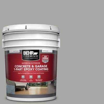 5 gal. #PFC-68 Silver Gray Self-Priming 1-Part Epoxy Satin Interior/Exterior Concrete and Garage Floor Paint