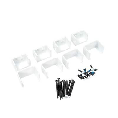 Al13 1-1/2 in. Aluminum White Level External Bracket (4-Pack)