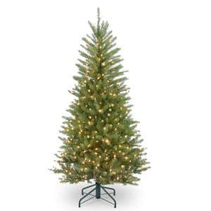 4.5 ft. Dunhill Fir Slim Artificial Christmas Tree with Clear Lights