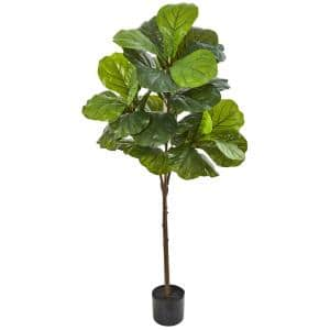 54 in. Fiddle Leaf Artificial Tree (Real Touch)