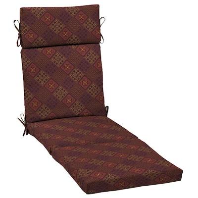 21 in. x 29.5 in. Chaise Lounge Cushion in Azulejo Southwest