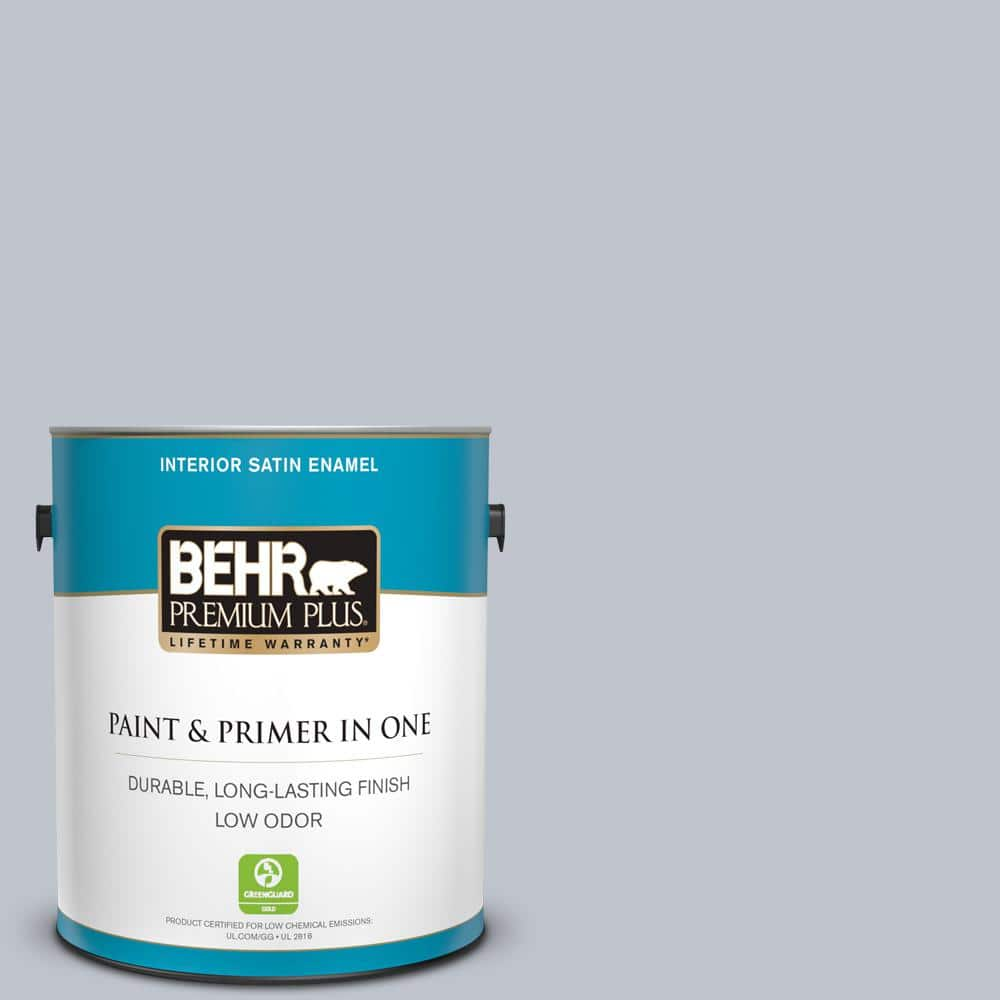 Behr Premium Plus 1 Gal N540 2 Glitter Color Satin Enamel Interior Paint And Primer In One 705001 The Home Depot