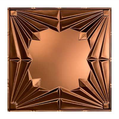 Art Deco 2 ft. x 2 ft. Oil Rubbed Bronze Lay-In Vinyl Ceiling Tile (20 sq. ft.)