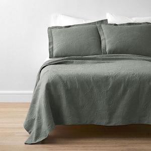 Putnam Matelasse Thyme Cotton Full Coverlet