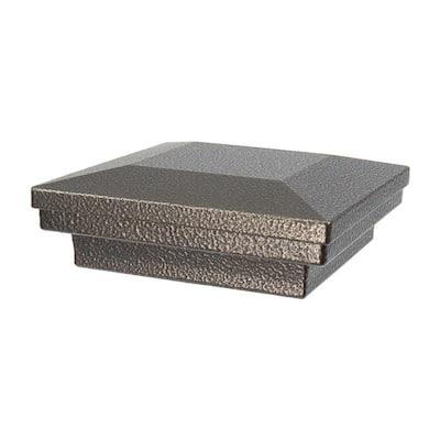 3.5 in. x 3.5 in. Antique Bronze Aluminum Flat Pyramid Post Cap