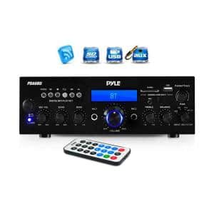 200-Watt Bluetooth LCD Home Stereo Amplifier Receiver with Remote and FM Antenna