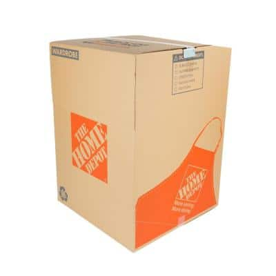 Wardrobe Moving Box with Bar and Handles 48-Pack (24 in. L x 24 in. W x 34 in. D)