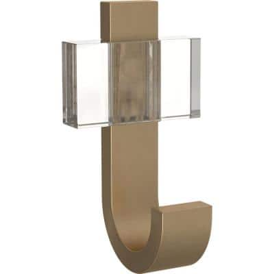 3.75 in. Champagne Bronze Square Acrylic Single Prong Hook