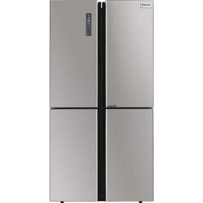36 in. 22.6 cu. ft French Door Freestanding Refrigerator in Stainless Steel with Ice Maker