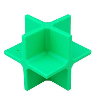 4 in. Reactive Ground Bouncing Shooting Target with a Square Box Body in Green