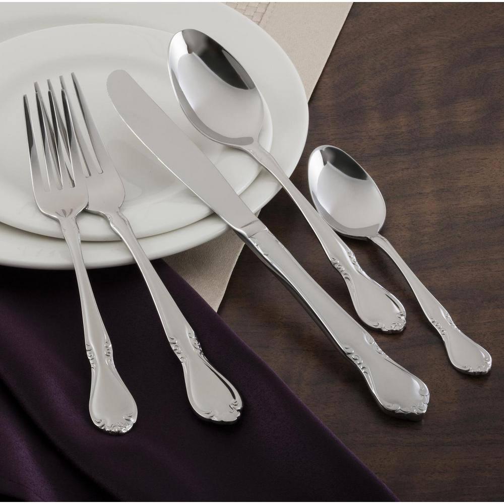 Utica Cutlery Co Utica Cutlery Company Illustra 20 Pc Set 819120 The Home Depot