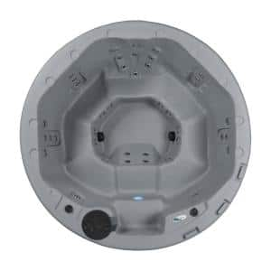 Oceania 7-Person 40 Stainless Jet 240-Volt Hot Tub with Real stainless steel Heater, ozone and LED Lighting