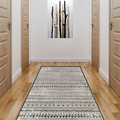 Boho Living Room Tribal Print 2.5 ft. x 6.5 ft. Bohemian Runner Rug