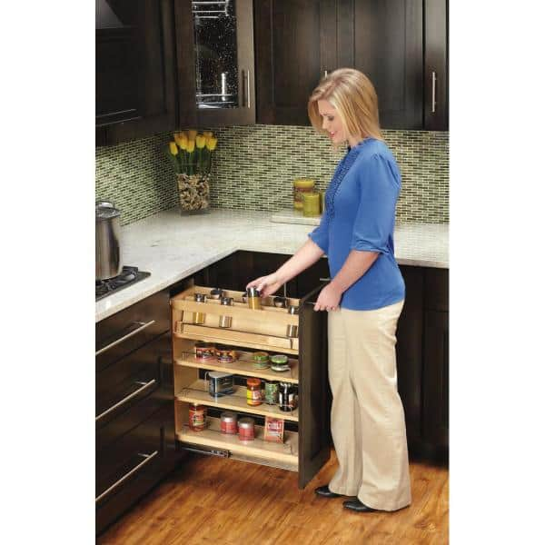 Rev A Shelf 5 In Spice Rack Insert For, Kitchen Cabinets Pull Out Spice Rack