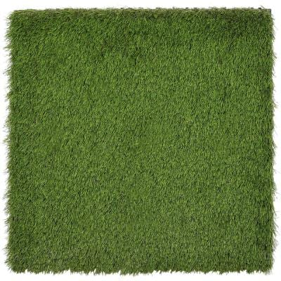 Grass Tile Series 2 ft. x 2 ft. Quick Deck Outdoor Faux Zoysia Grass Plastic Deck Tile in Green (4 per Case)