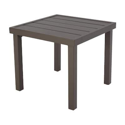 Fernlake 20 in. x 20 in. Steel Outdoor Patio Side Table