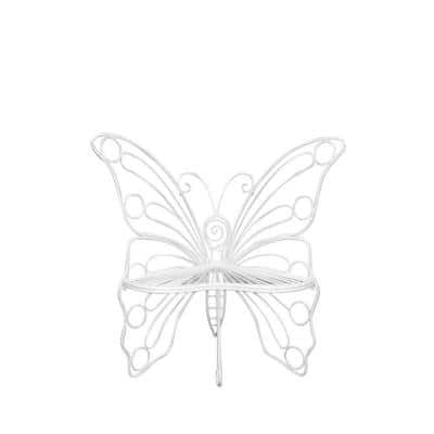 White Butterfly Bench