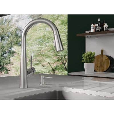 Lacuna Single-Handle Pull-Down Sprayer Kitchen Faucet in Chrome