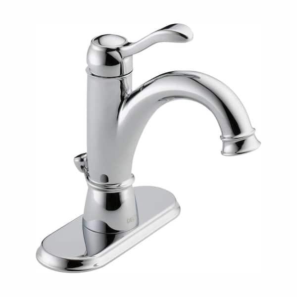 Delta Porter Single Hole Single Handle Bathroom Faucet In Chrome 15984lf Eco The Home Depot