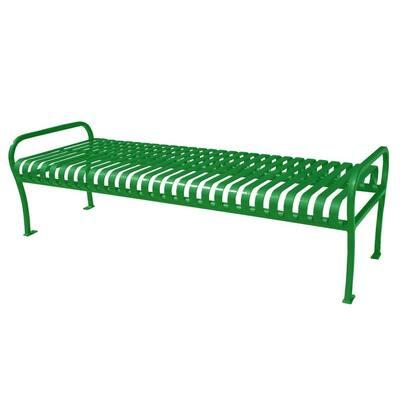 6 ft. Light Green Premier Backless Bench