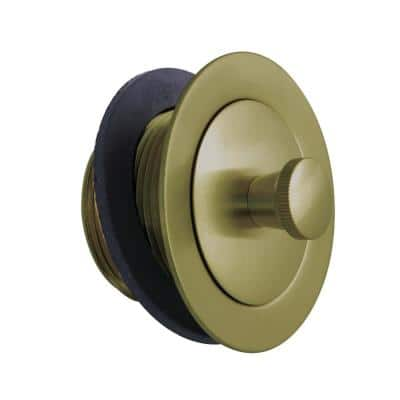 Lift and Lock Bathtub Stopper, Brushed Brass