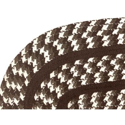 Crecent Braid Collection is Durable and Stain Resistant Reversible Brown 8 ft. x 10 ft. Oval Polypropylene Area Rug