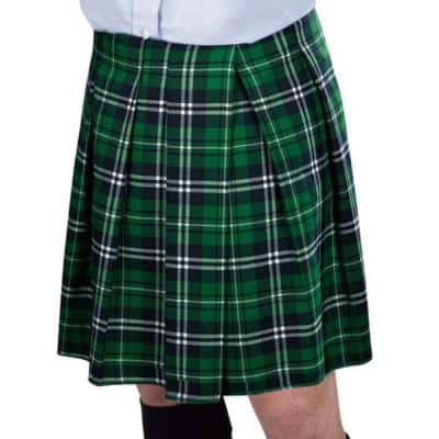 Green Plaid St. Patrick's Day Adult Standard Kilt