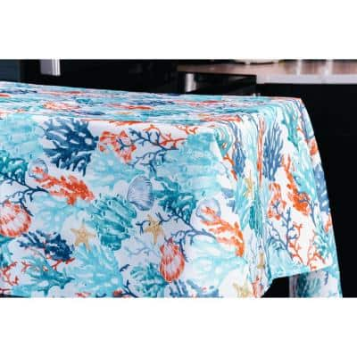 "Coralee Indoor Outdoor 100% Polyester Tablecloth 52""X70"""