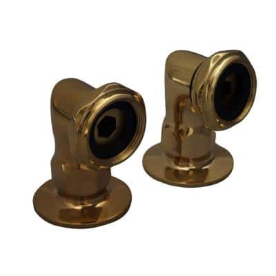 2 in. Brass Deck Mount Coupler in Polished Brass